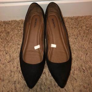 Merona Womens Black Flats Size 8.5